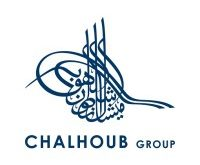 this image is the logo of this post Chalhoub Group. With white background and on wrote a arabic fonts and also wrritten 'Chalhoub group'.